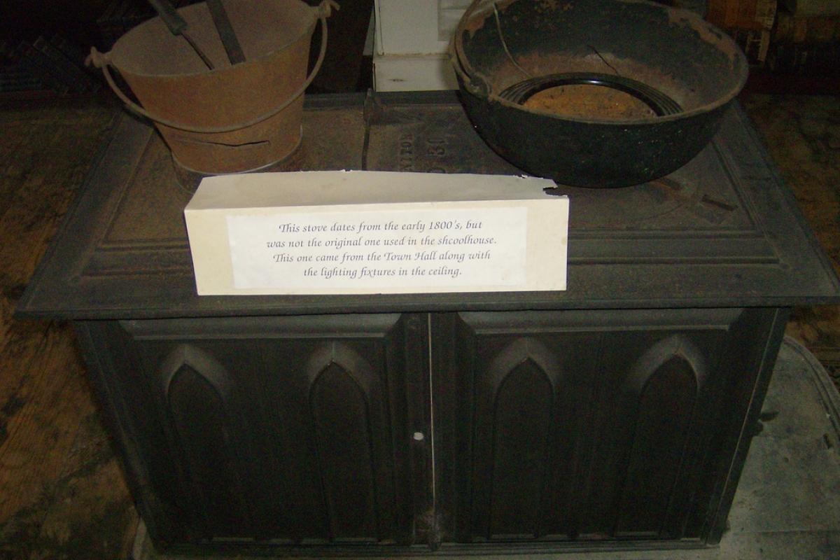image school wood stove
