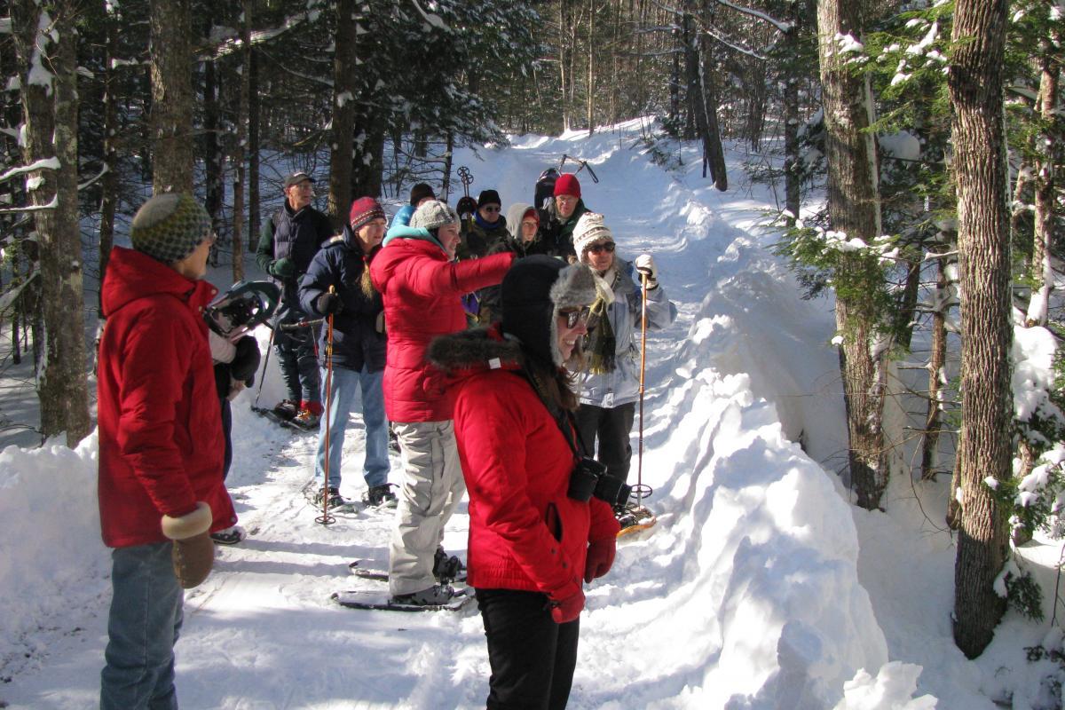 photo of snowshoeing at Mulligan