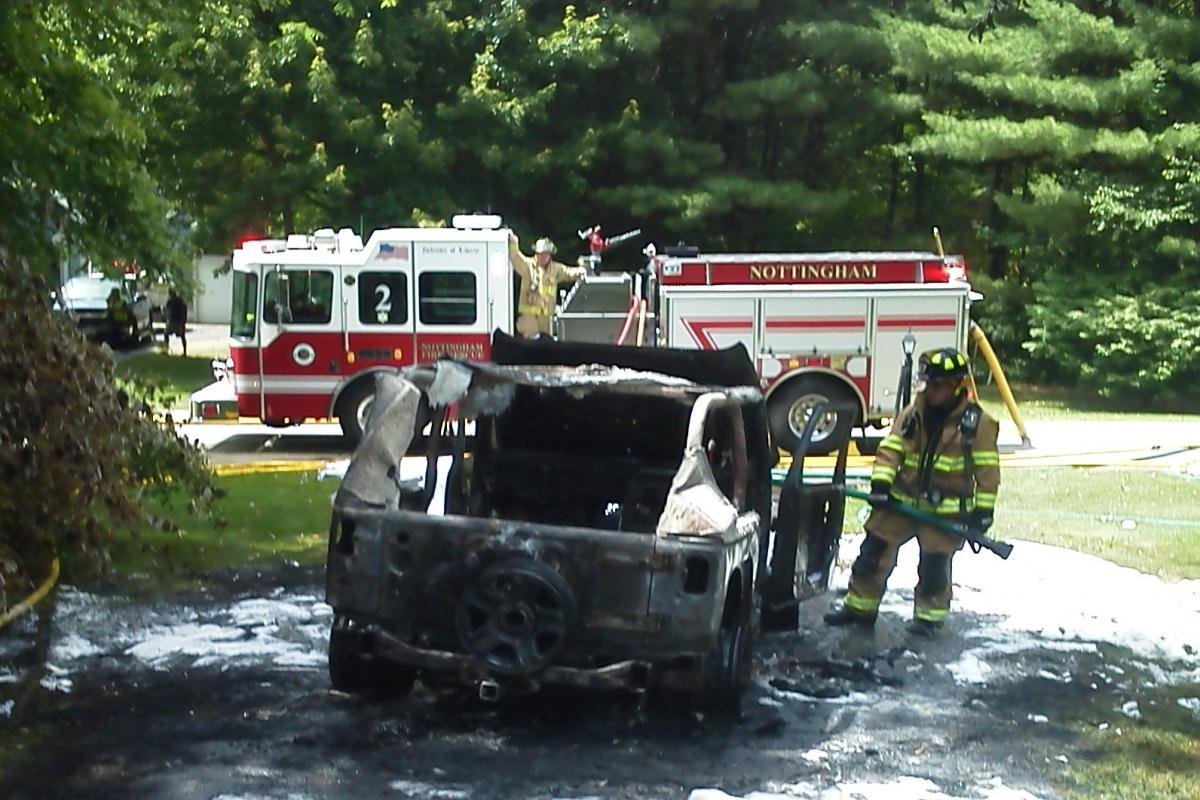 picture vehicle fire