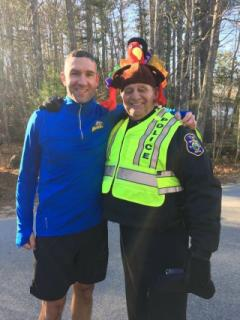 image Police Chief in a turkey hat