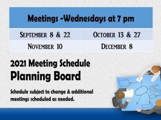 September to January PB Meetings 2021