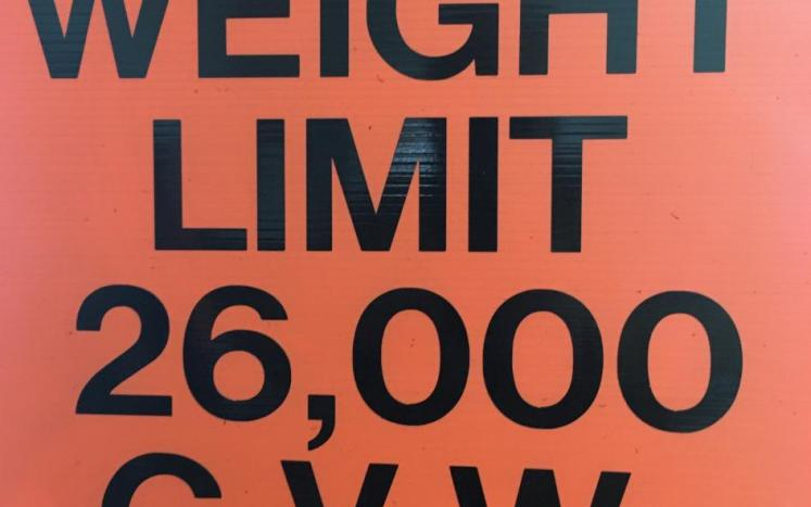 Weight limit sign