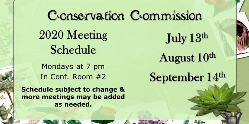 conservation commission meeting dates